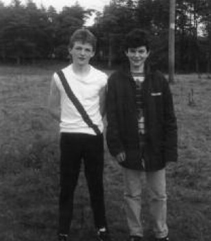 1986 pictured on Boxing Day Seamus Kelly and Kevin Giles