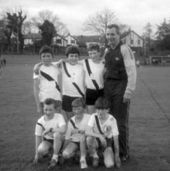 In 1990 Cranford U/12 Boys won the Ulster cross-country championship in Derry. The team were Back L-R: Joe Cullen,Edward Sweeney & Turlough Giles. Front L-R: Charlie Doherty, Seamus McHugh & Brendan Giles pictured with Eamon Giles.