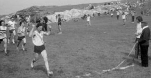 Eamon and John Giles competing in the 200 metres in Portnablagh in the mid 70's.