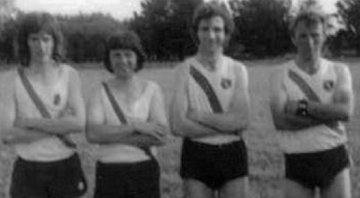 John Friel, James Doherty, Eamon Giles and Michael McBride, relay winners at the Ardara show in the 70's