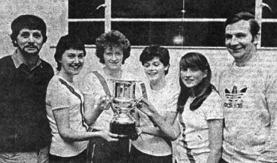 Ulster senior ladies cross country team titles 1982/83 Cranford won Ulster senior ladies cross-country team titles in 1982 and 1983. Team member were L-R: Bridie Trearty, Rose Gavaghan (1st individual), Matina Sandilands, Irene Irwin pictured with James Sweeney - Asst. Coach and Eamon Giles - Coach