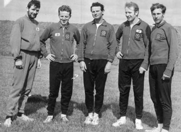 Left - Right- Eamon Giles, Neily McDaid, John Carlin, Hugo Duggan, Paddy Marley. All Ulster title holders.