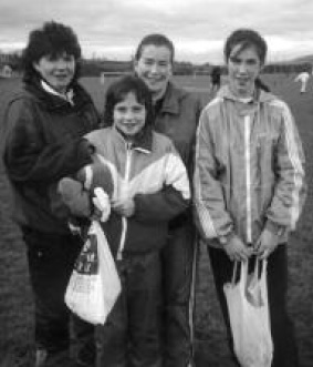 Nancy McNamee, Aisling McBride, Kathleen McFadden, Pauline Logue who competed in the Ulster Championships.
