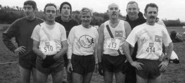 Pictured at the National vets in Dublin in the mid 90's left to right- John McDaid, Joe Cullen, Liam Marley, Freddie Connors, Brian McBride, Eamon Giles and Manus Peoples.