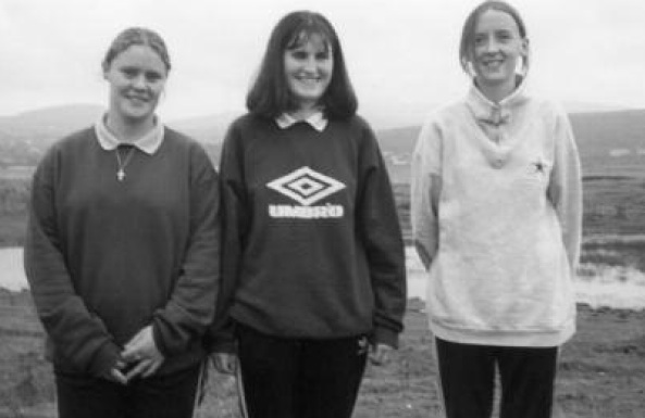 Pictured in Cranford Park after a cross country training session are Margaret Boyce, Siobhan Monaghan and Heather Duffy