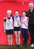 Coach Eamon Giles with U-13 girls Rionach Giles, Molly Trearty 6th and Michelle Mc Devitt