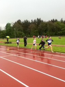 Molly in action in the 800m