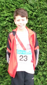 Dylan Dorrian who competed in the Boys u/13 Long Jump at the wend.