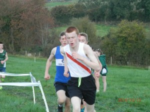 Kevin Logue on his way to victory in the U/17 Boys.