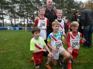 Eamon Giles with Connor Ben Keelin Max and Cian who won gold in the u/10 Boys .