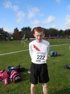 Kevin Logue who came 7th in the boys u/16.