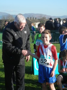 OISIN KELLY WHO CAME 9TH IN THE BOYS U/12 RACE.