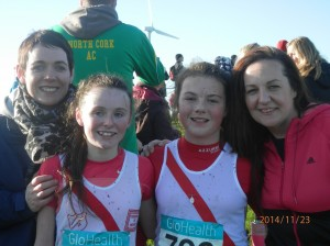 SALLY AND MOLLY TREARTY WITH RIONACH  AND MAIREAD GILES