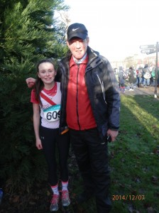 Molly Trearty who ran in the u/13 Girls with Ernie.