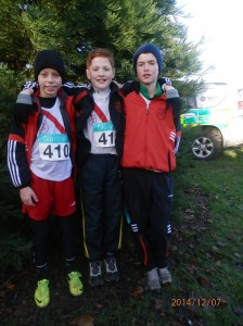 Dylan Johnny and Eoghan who ran in the u/13 Boys.
