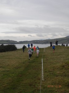 Action from the u/9 race.