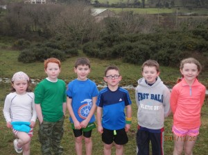 The young competers in the u/7 to u/9 race.