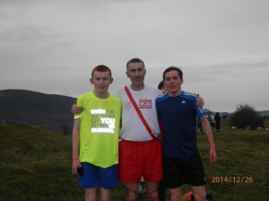 First 3 home in the men kevin Logue,PJ Boyce and Eoin Kelly.