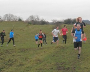 Action from the Boxing Day Race.