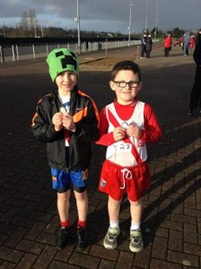U9 boys Caolan McFadden who won 2 Gold medals and Ryan McMenamim who won a bronze and a silver