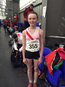 Molly Trearty who came 4th in the girls u/14 800m.