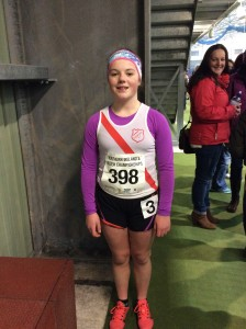 Rionach Giles who took part in the 800m girls u/15.