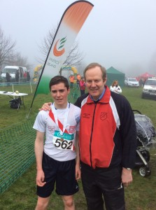 Eoin Kelly with Ernie whi came 4th in the Boys u17.