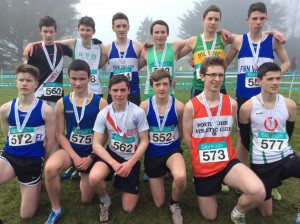 Eoin Kelly with the first  12 athletes in the boys u/17.