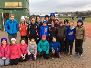 Cranford athletes who travelled to Derry last Sunday.