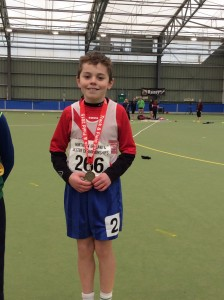 Oisin Kelly with his gold medal in the 600m.