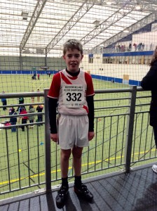 Martin mc Garvey who took part in the boys U/14 800m.