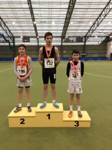 Dylan Dorrian who came 3rd in the 800m.