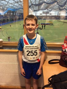 Johnny Trearty who took part in the  boys u/12 600m.