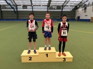 Oisin Kelly 1st and Liam Donnelly 2nd in the u/12 long jump.