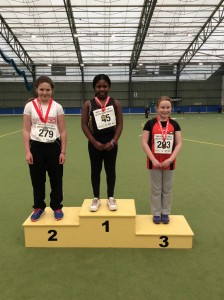 Aoife Giles who came 2nd in the girls u/12 shot.