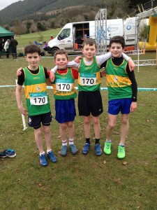 Donegal Boys u/12 Team who came 2nd with cranford A C Liam Donnelly and Oisin Kelly  and Oisin Toye FV