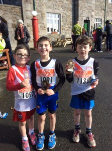 Ryan who came 7th Caolan mc Fadden  who came 2nd and Caolan Curran who came 3rd in the boys u/10.