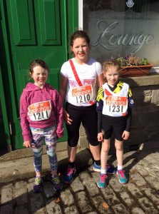 Sophia Aoife and Caitlin who ran in the U/12 girls.
