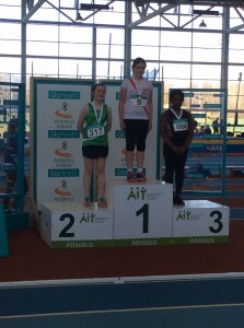 Aoife receiving Her gold medal.
