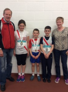 Aoife Oisin and Liam with Ernie and rose.