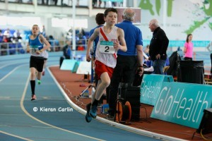 Dylan in action in the 800m u/13 boys.