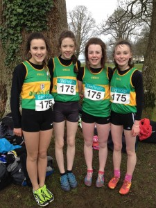 Molly 4th from left with the Donegal Team who came 3rd in the girls u/14.