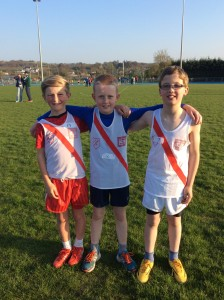 Cian,Ben and Connor our U/11boys.