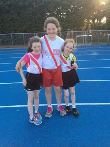 Sophie,Aoife and Caitlin our u/12 girls.