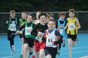Oisin leading the race.