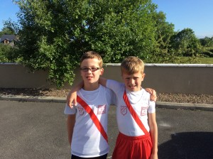 Connor Neely and Max Roarty u/11 Boys long jump team.