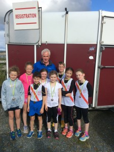 The u/11 Medal winners with Brian McBride.