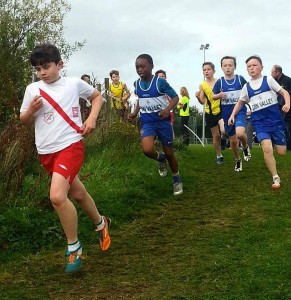 Allan Neely running in the U/13 boys.