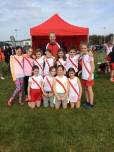Girls U/11 with coach Ernie.
