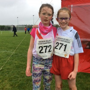 Sophia and Caitlin our U/13 girls.
